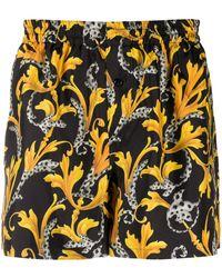 Versace Boxershorts mit Print - Schwarz