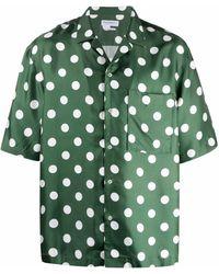President's Chemise en soie à pois - Vert