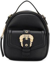 Versace Jeans Schultertasche mit barocker Schnalle - Schwarz