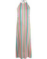 Mc2 Saint Barth Justine Colour-block Maxi Dress - Green