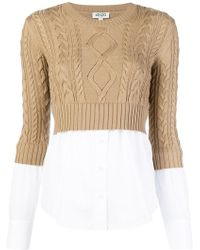 KENZO - Ribbed Knit Contrast Shirt - Lyst