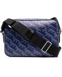 Maison Kitsuné Fox-print Shoulder Bag - Blue