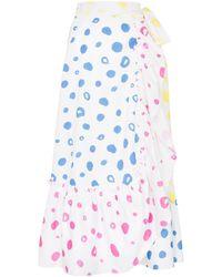 Mira Mikati Scribble Dot Print Wrap Skirt - White