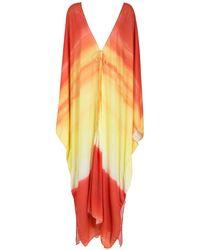 Amir Slama Printed Beach Dress - Orange