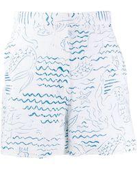 KENZO Wave Mermaids ショートパンツ - ホワイト