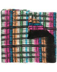 Essentiel Antwerp チェック スカーフ - ブラック