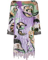Emilio Pucci - Sequined Mini Dress - Lyst
