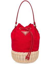7f7819ef6218 Gucci Natural Cestino Mini Wicker Bag in Natural - Lyst