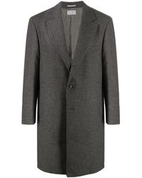Brunello Cucinelli Fitted Single-breasted Coat - Grey