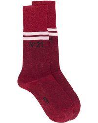N°21 ロゴ靴下 - レッド
