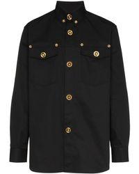 Versace ボタンダウン シャツ - ブラック