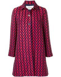 Valentino Brocade Coat - Red