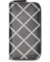 Burberry Portemonnaie mit Print - Schwarz