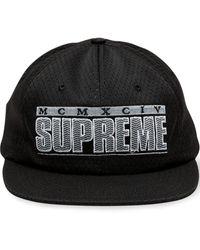 Supreme Кепка С Логотипом - Черный