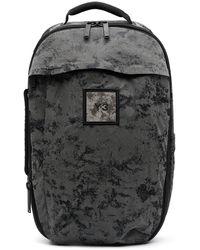Y-3 Велюровый Рюкзак На Молнии - Черный