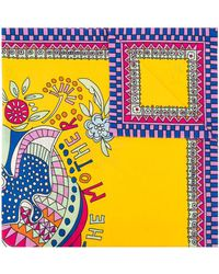 La DoubleJ Demeter Square Scarf - Yellow