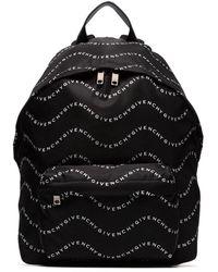 Givenchy Wave Logo-printed Backpack - Black