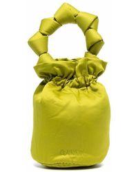 Ganni Borse バケットバッグ - グリーン