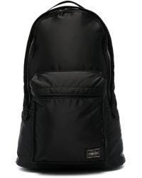 Porter ロゴパッチ バックパック - ブラック