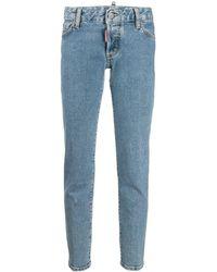 DSquared² Jeans skinny a vita bassa - Blu