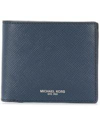 Michael Kors Cartera Harrison plegable - Azul