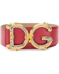 Dolce & Gabbana Dgバックル ベルト - レッド
