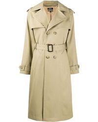 A.P.C. Simone Double-breasted Trench Coat - Natural