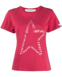 Golden Goose Deluxe Brand スターモチーフ Tシャツ - ピンク