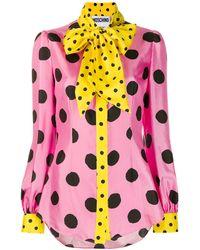 Moschino Camisa con motivo de lunares - Rosa