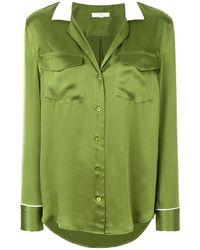 Equipment Contrast Collar Shirt - Green