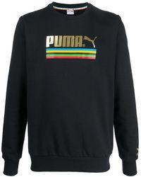 PUMA ロゴ スウェットシャツ - ブラック