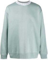 Acne Studios Oversized-Sweatshirt mit Logo - Grau