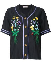 MUVEIL - Button Embroidered Shirt - Lyst