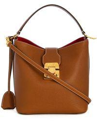 Mark Cross - Mini sac à main en cuir grainé - Lyst