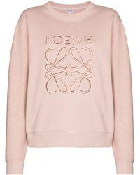 Loewe Толстовка С Вышитым Логотипом - Розовый
