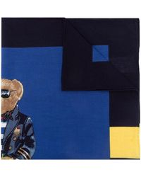 Polo Ralph Lauren Foulard con stampa - Blu