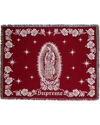 Supreme Virgin Mary Blanket - Red