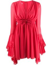Giamba Bow-detail Flared Dress