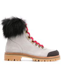 Mr & Mrs Italy Pedules Chunky-sole Ankle Boots - Grey