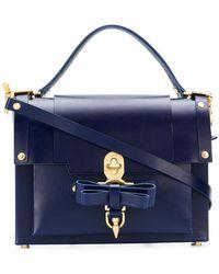 Niels Peeraer Bow Buckle Shoulder Bag - Blue