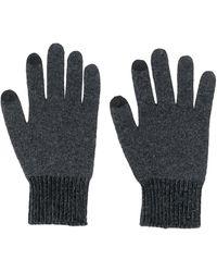 KENZO ロゴ ニット手袋 - グレー