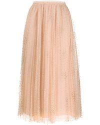RED Valentino Glitter Polka-dot Pleated Tulle Skirt - Multicolour