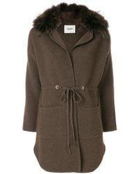 Max & Moi - Fur Trimmed Cardi-coat - Lyst