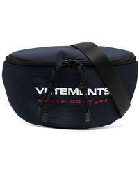 Vetements Logo-print Zip-fastening Belt Bag - Blue