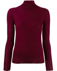 JOSEPH Knit Turtleneck Top - Red