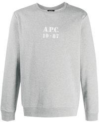 A.P.C. - ロゴ スウェットシャツ - Lyst