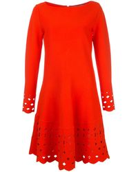 Lela Rose Cut out shift dress - Orange