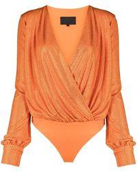 Philipp Plein Боди С Кристаллами - Оранжевый