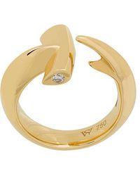 Stephen Webster - 18kt Yellow Gold Hammerhead Diamond Ring - Lyst