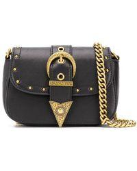 Versace Jeans Couture バックル ショルダーバッグ - ブラック